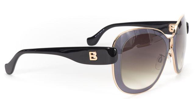 BALENCIAGA Gray Gold Trim Acetate Gradient Lens Sunglasses