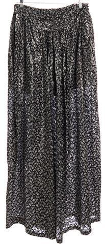 BALENCIAGA Gray Black Floral Textured Maxi Skirt Size 8