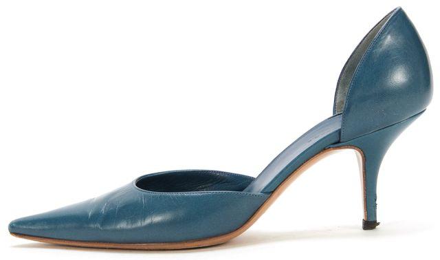 BALENCIAGA Blue D'orsay Kitten Heel
