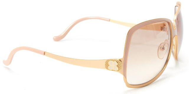 BALENCIAGA Blush Pink Gold Metal Frame Oversize Gradient Lens