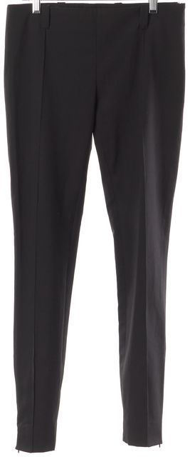 BALENCIAGA Black Cropped Pleated Trouser Dress Pants