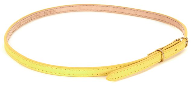 BALENCIAGA Yellow Leather Skinny Belt