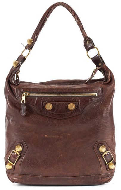 BALENCIAGA Brown Leather Giant 21 Classic Day Hobo Bag