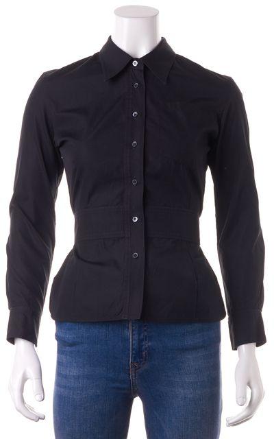 BALENCIAGA Black Button Down Shirt Top
