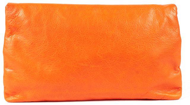 BALENCIAGA Orange Leather Giant 12 Envelope Clutch