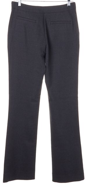BALENCIAGA Gray Wool Trouser Dress Pants