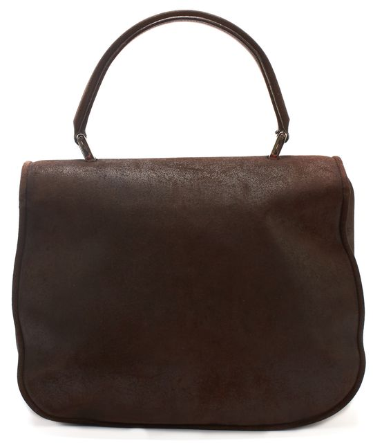 BALENCIAGA Brown Suede Shoulder Bag