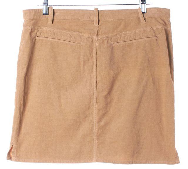 BALENCIAGA Beige Corduroy Le Dix Above Knee Pencil Skirt