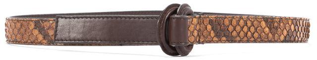 BALENCIAGA Brown Python Snakeskin Belt