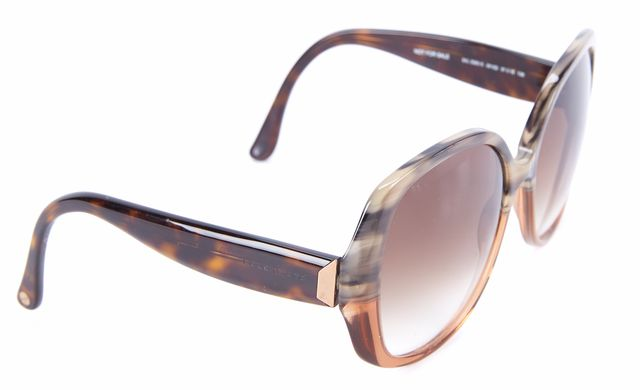 BALENCIAGA Brown Tortoise Oversized Square Frame Gradient Lenses Sunglasses