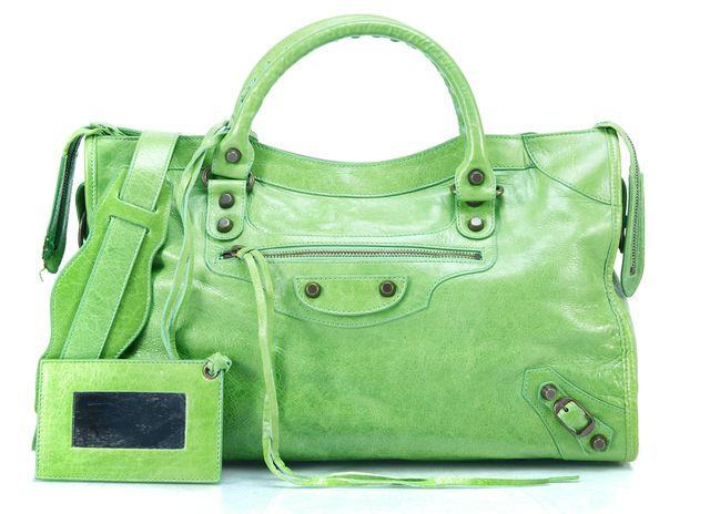Balenciaga Green Leather Satchel 628007