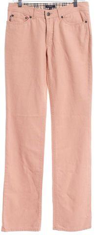 BURBERRY LONDON Pink Cotton Denim Straight Leg Jeans