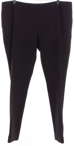 BURBERRY LONDON Black Straight Leg Dress Pants
