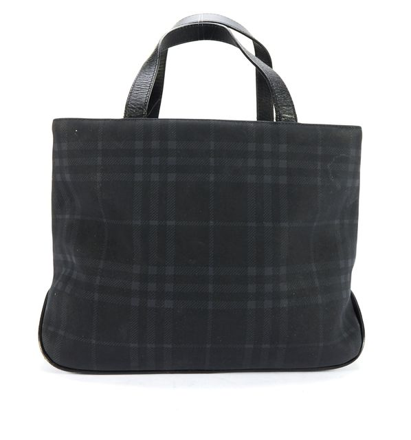 BURBERRY LONDON Blue Plaid Top Handle Bag