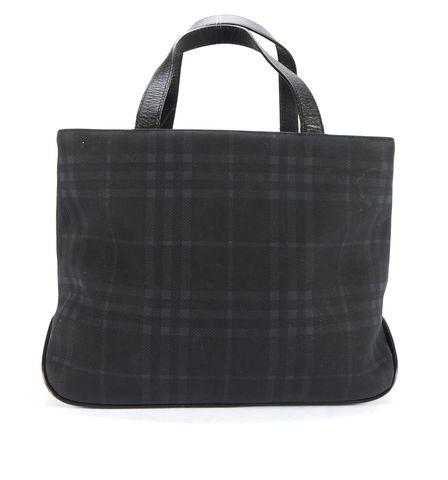 BURBERRY LONDON Blue Plaid Top Handle Bag