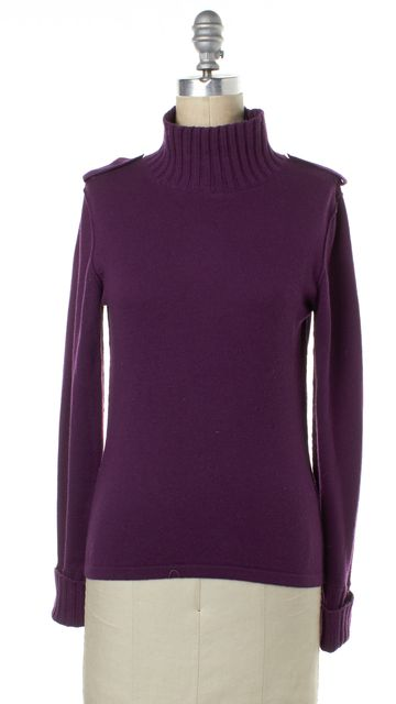 BURBERRY LONDON Purple Turtleneck Top