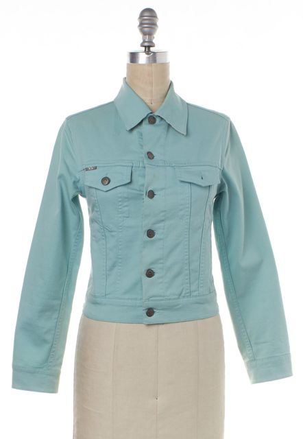 BURBERRY LONDON Light Blue Denim Jean Jacket