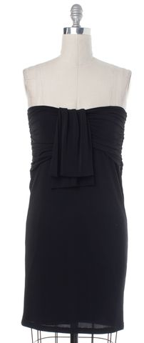 BURBERRY LONDON Black Stretch Knit Strapless Dress