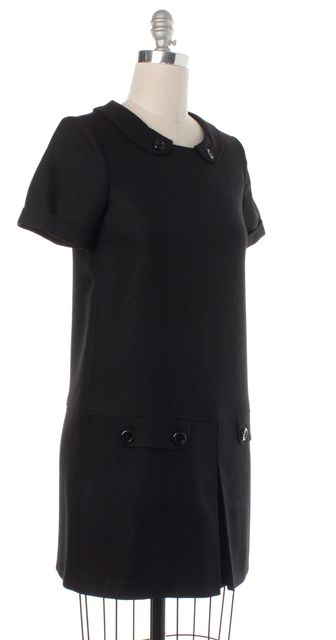 BURBERRY LONDON Black Wool Shift Dress