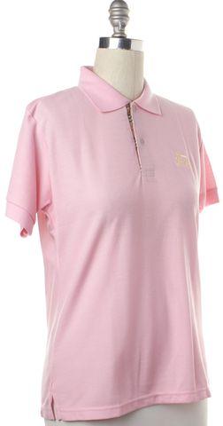 BURBERRY LONDON Pink Polo Shirt