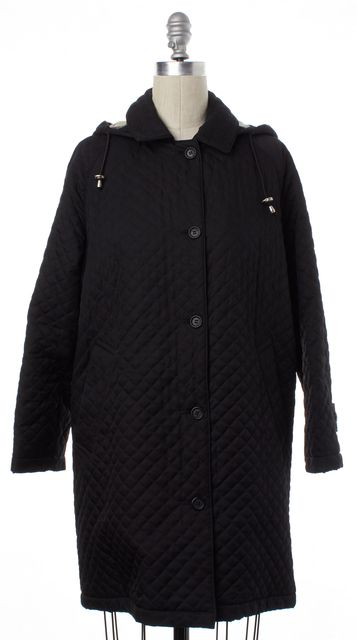BURBERRY LONDON Black Quilted Basic Coat