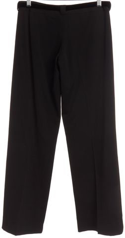 BURBERRY LONDON Black Wool Velvet Tie Belt Trouser Pants