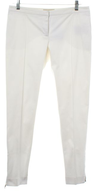 BURBERRY LONDON White Cropped Casual Pants