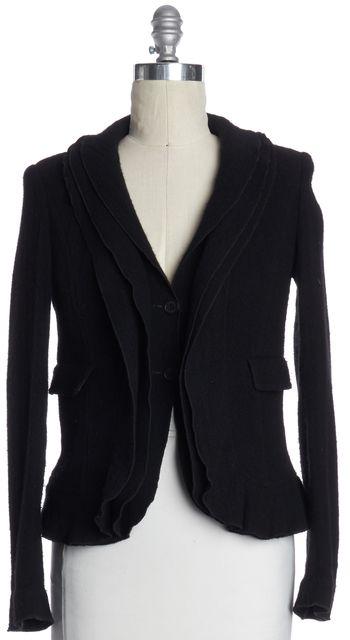BURBERRY LONDON Black Wool Tiered Jacket