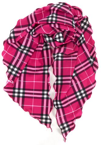 BURBERRY LONDON Pink Black Check Shawl