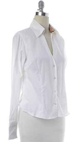 BURBERRY LONDON White Button Down Shirt Top