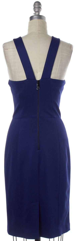 BURBERRY LONDON Lapis Blue Cutout Bodycon Dress