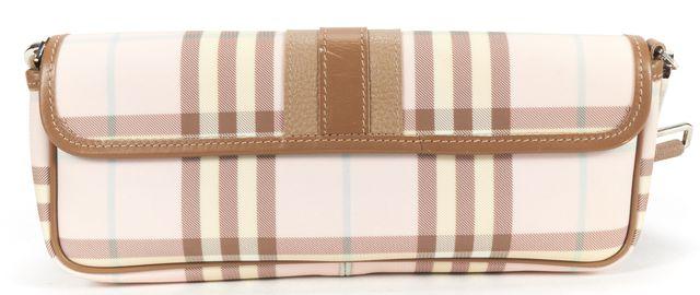 BURBERRY LONDON Pink Beige House Check Canvas Shoulder Bag