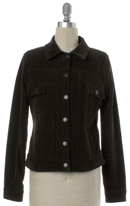 BURBERRY LONDON Olive Green Corduroy Jacket