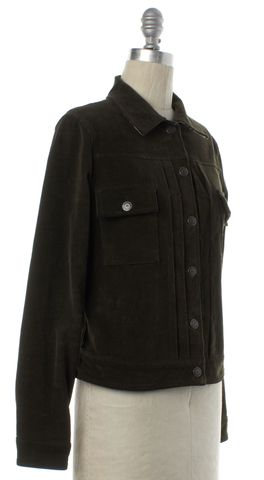 BURBERRY LONDON Olive Green Corduroy Jacket