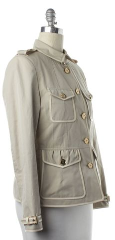 BURBERRY LONDON Beige Military Style Basic Jacket
