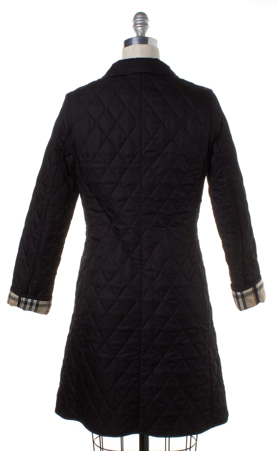 BURBERRY LONDON Black Quilted Coat