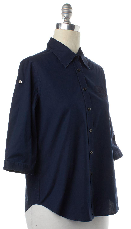 BURBERRY LONDON Navy Blue Button Down Shirt