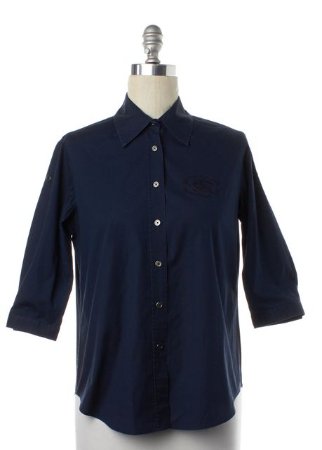 BURBERRY LONDON Navy Blue Button Down Shirt