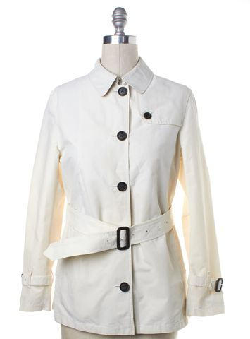 BURBERRY LONDON Ivory Trench Jacket Fits Like a 4