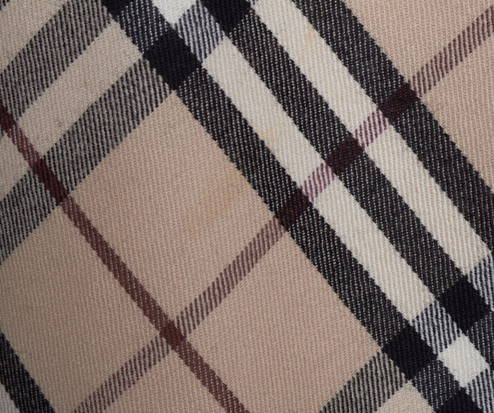BURBERRY LONDON Beige Plaid Check Wool A-Line Skirt