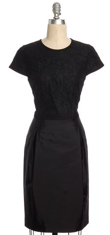 BURBERRY LONDON Black Lace Sheath Dress