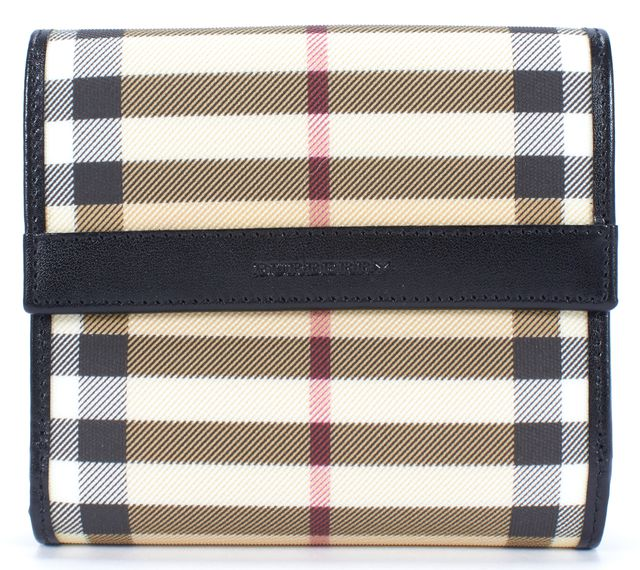 BURBERRY LONDON Beige Check Wallet