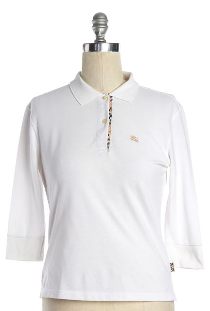 BURBERRY LONDON White Polo Top