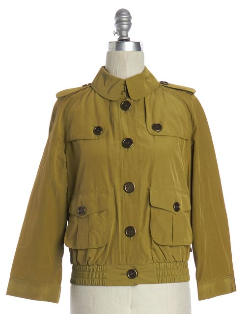 BURBERRY LONDON Green Button Down Jacket