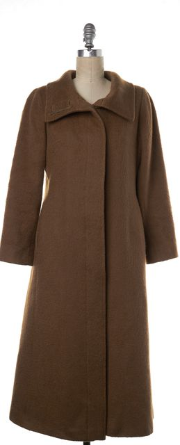BURBERRY LONDON Camel Brown Wool Button Up Coat