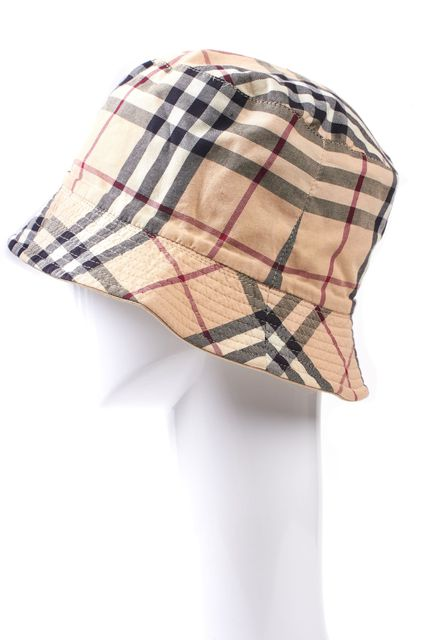 BURBERRY LONDON Beige House Check Bucket Hat