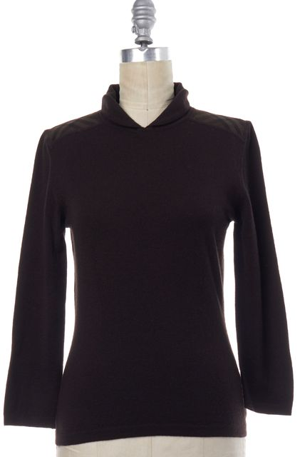 BURBERRY LONDON Brown Wool Collared Sweater