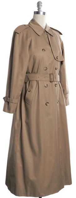 BURBERRY LONDON Beige House Check Lined Belted Trench Coat