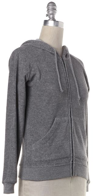 BURBERRY LONDON Gray Hooded Sweat Jacket
