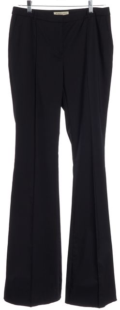 BURBERRY LONDON Black Wool Bell Leg Dress Pants